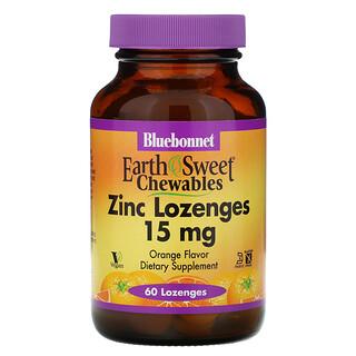 Bluebonnet Nutrition, EarthSweet, pastilla de Zinc, con sabor natural a naranja, 60 pastillas