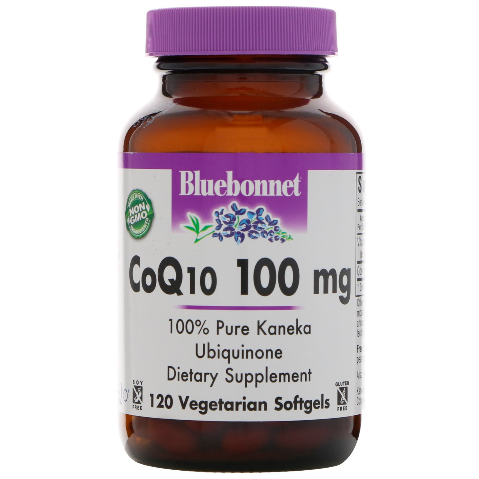 Bluebonnet Nutrition, CoQ10, 100 мг, 120 желатиновых капсул