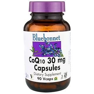 Bluebonnet Nutrition, 코큐텐 캡슐, 30mg, 90 베지 캡슐