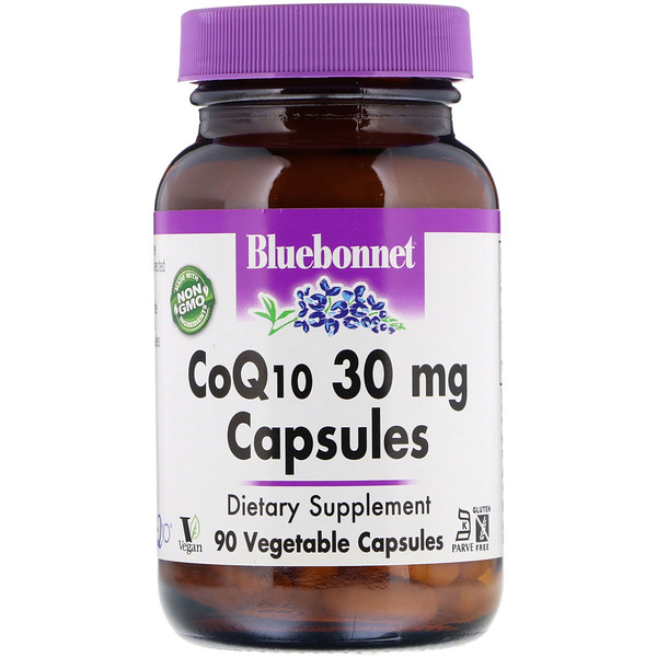 Bluebonnet Nutrition, CoQ10, 30 mg, 90 Vegetable Capsules