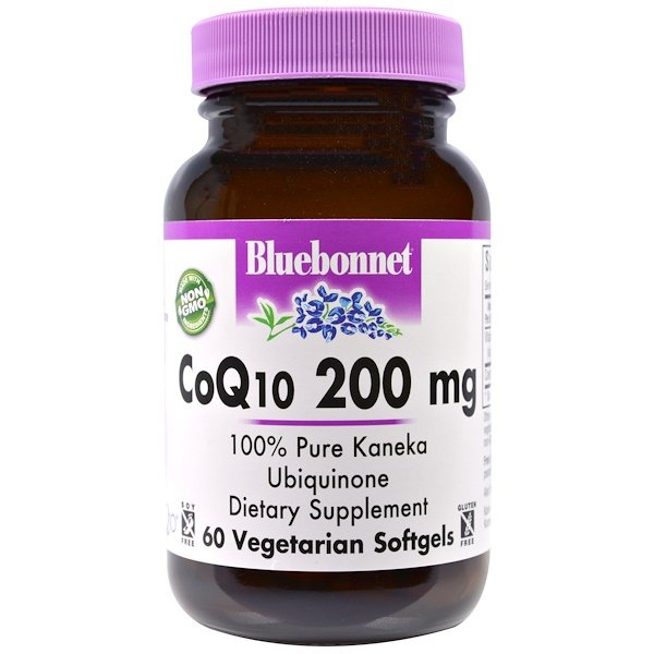 Bluebonnet Nutrition, CoQ10, 200 mg, 60 Veggie Softgels