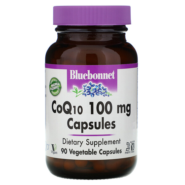 Bluebonnet Nutrition, CoQ10, 100 mg, 90 Veggie Caps