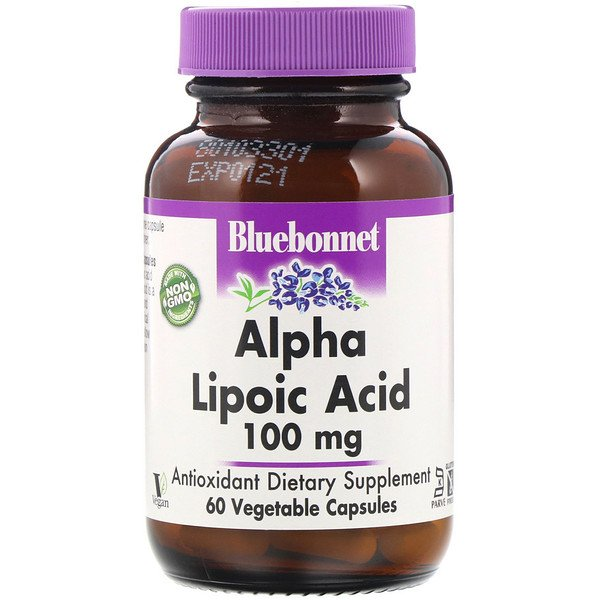 Bluebonnet Nutrition, Alpha Lipoic Acid, 100 mg, 60 Vegetable Capsules