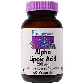 Bluebonnet Nutrition, Alpha Lipoic Acid, 200 mg, 60 Vcaps