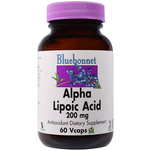 Bluebonnet Nutrition, Alpha Lipoic Acid, 200 mg, 60 Vcaps (Discontinued Item)