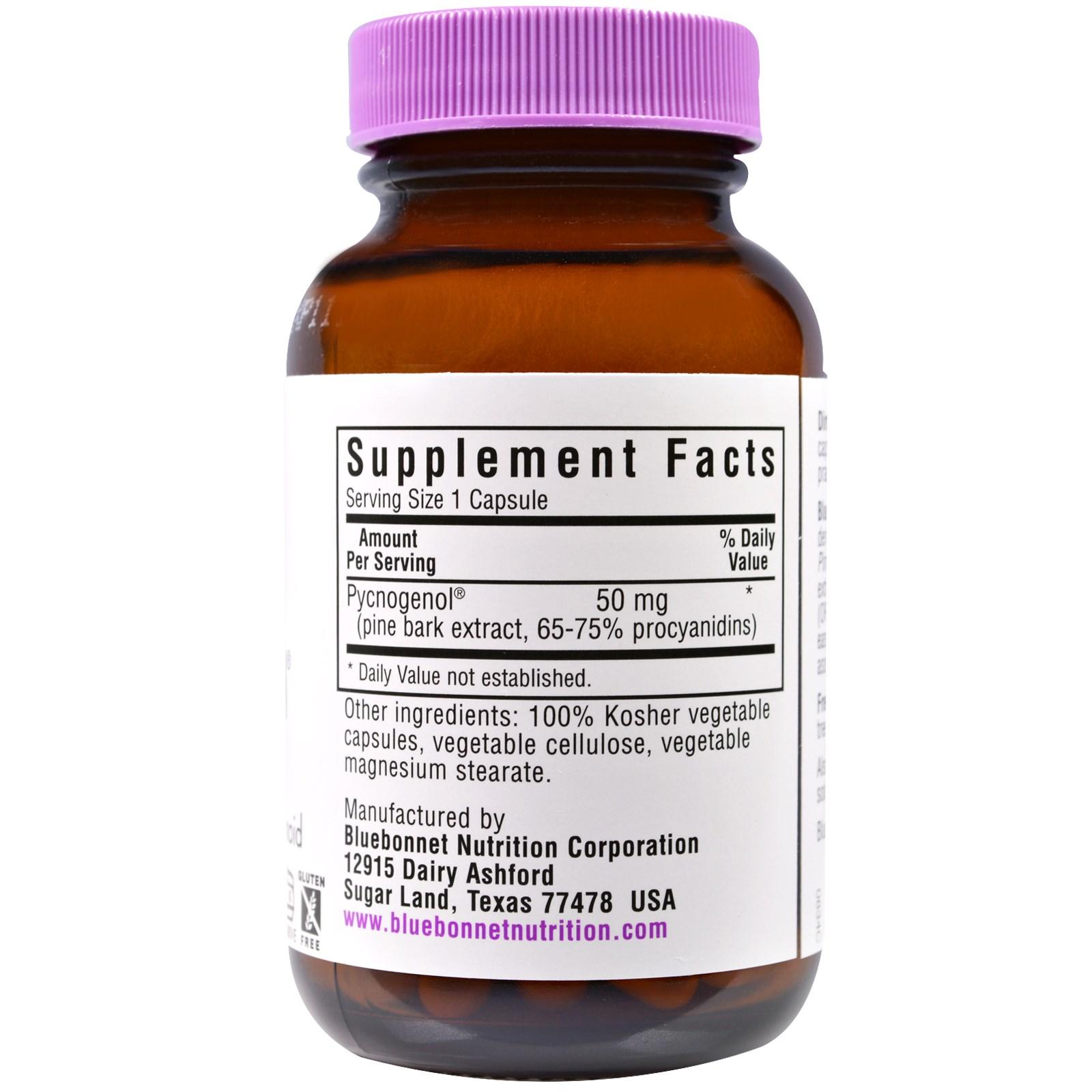 Bluebonnet Nutrition Pycnogenol 50 Mg 60 Vcaps Iherb Com