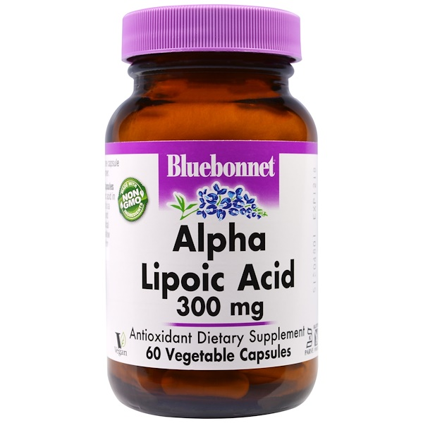 Bluebonnet Nutrition, Alpha Lipoic Acid, 300 mg, 60 Veggie Caps