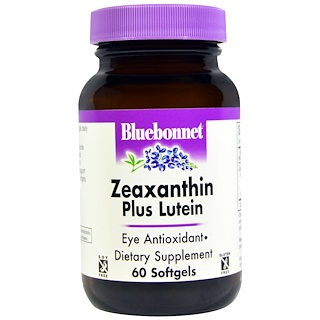 Bluebonnet Nutrition, Zeaxanthin Plus Lutein, 60 Softgels