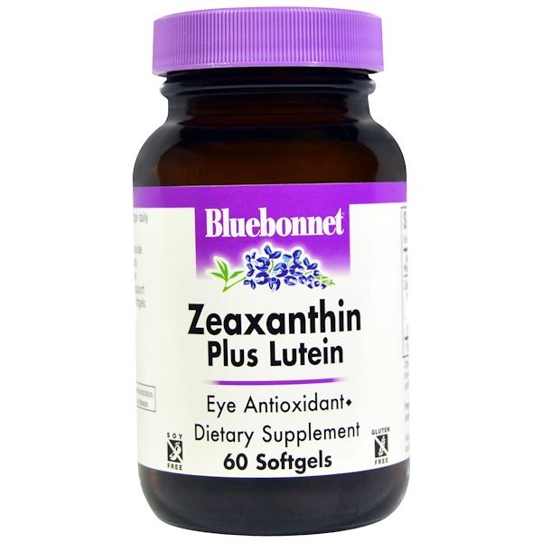 זיאקסנטין בתוספת לוטאין (Zeaxanthin Plus Lutein), 60 כמוסת ג'ל