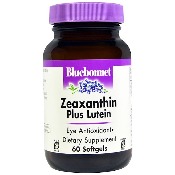 Bluebonnet Nutrition, Zeaxanthin Más Luteina, 60 Capsulas de Gel Suave