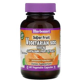 Bluebonnet Nutrition, Cantaloupe, Melon Fruit Extract, 100 IU, 60 Vcaps