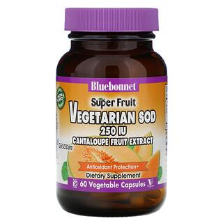 Bluebonnet Nutrition, Super Fruit, Vegetarian SOD, Cantaloupe Fruit Extract, 250 IU, 60 Vegetable Capsules