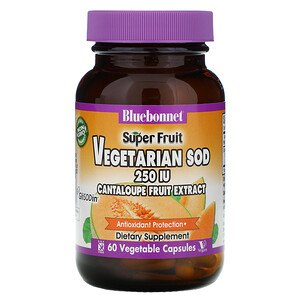 Блубоннэт Нутришен, Super Fruit, Vegetarian SOD, Cantaloupe Fruit Extract, 250 IU, 60 Vegetable Capsules отзывы