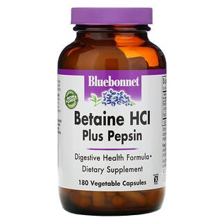 Bluebonnet Nutrition, Betaine HCL, Plus Pepsin, 180 Veggie Caps