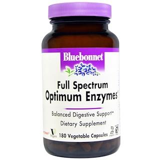 Bluebonnet Nutrition, Full Spectrum Optimum Enzymes, 180 Veggie Caps