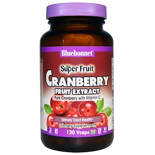 Bluebonnet Nutrition, Super Fruit, Cranberry Fruit Extract, 120 Veggie Caps