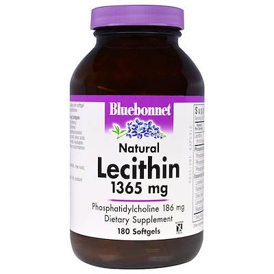 Natural Lecithin, 1,365 mg, 180 Softgels
