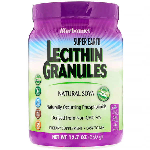 Bluebonnet Nutrition, Super Earth, Lecithin Granules, 12.7 oz (360 g)