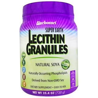 Bluebonnet Nutrition, Super Earth, Lecithin Granules, 25.4 oz (720 g)