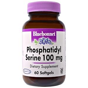 Bluebonnet Nutrition, Фосфатидилсерин, 100 мг, 60 желатиновых капсул