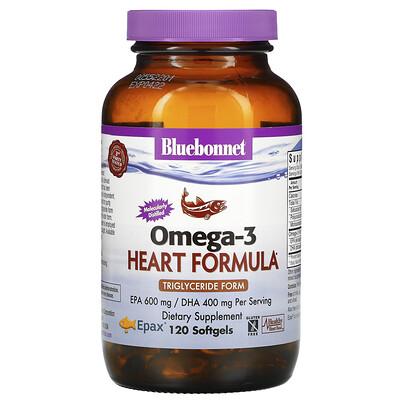 Bluebonnet Nutrition Натуральная формула для поддержки сердца с омега-3, 120 мягких желатиновых капсул