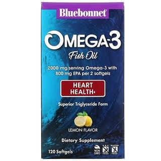 Bluebonnet Nutrition, Fórmula natural para o Coração de ômega-3, 120 Softgels
