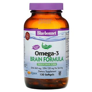 Bluebonnet Nutrition, أوميجا-3 الطبيعي، تركيبة لدعم المخ، 120 كبسولة هلامية