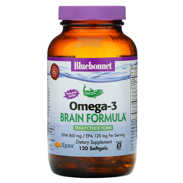 Natural Omega-3, Brain Formula, 120 Softgels