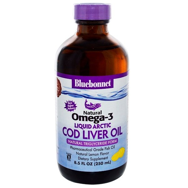 Bluebonnet Nutrition, Liquid Arctic Cod Liver Oil, Natural Omega-3, Natural Lemon Flavor, 8.5 fl oz (250 ml) (Discontinued Item)