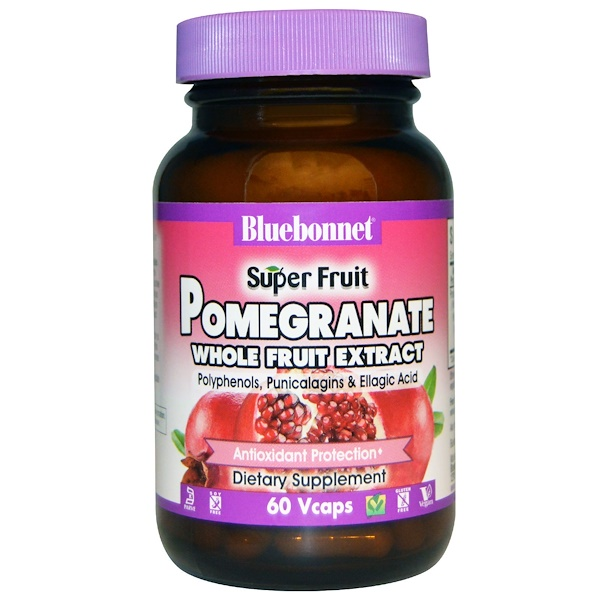 Bluebonnet Nutrition, Super Fruit, Pomegranate Whole Fruit Extract, 60 Vcaps