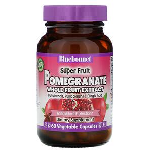 Блубоннэт Нутришен, Super Fruit, Pomegranate Whole Fruit Extract, 60 Vcaps отзывы