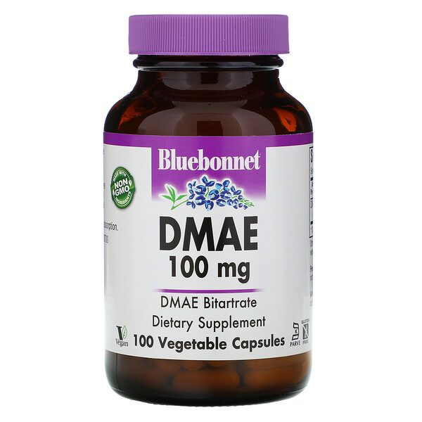 Bluebonnet Nutrition, DMAE, 100 mg, 100 Vegetable Capsules