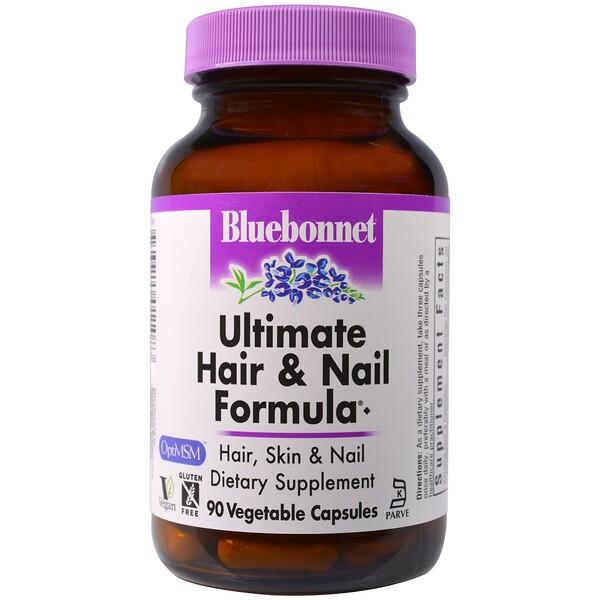 Bluebonnet Nutrition, Ultimate Hair & Nail Formula, 90 Veggie Caps (Discontinued Item)