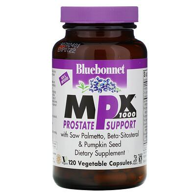 Купить Bluebonnet Nutrition MPX 1000, поддержка предстательной железы, 120 вегетарианских капсул
