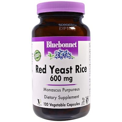 Купить Красный дрожжевой рис, 600 мг, 120 растительных капсул
