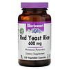 Bluebonnet Nutrition, красный ферментированный рис, 600мг, 120вегетарианских капсул
