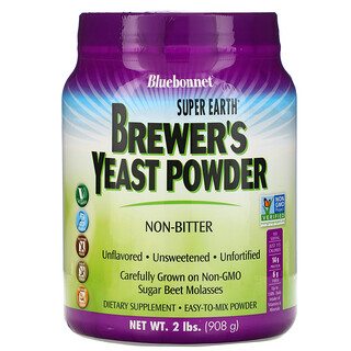Bluebonnet Nutrition, Super Earth Brewer's Yeast、無香料、2ポンド(908 g)