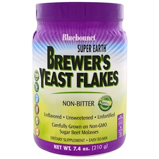 Bluebonnet Nutrition, Super Earth, Brewer's Yeast Flakes, 7.4 oz (210 g)