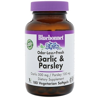Bluebonnet Nutrition, Garlic & Parsley, 180 Vegetarian Softgels