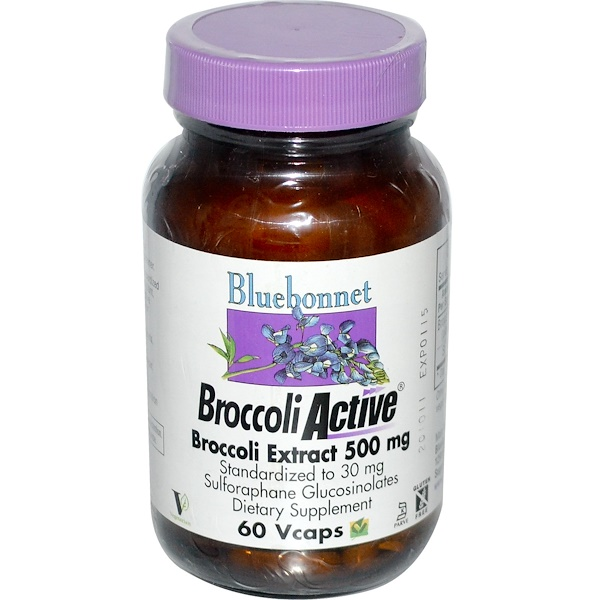Bluebonnet Nutrition, BroccoliActive, Broccoli Extract, 500 mg, 60 Vcaps (Discontinued Item)