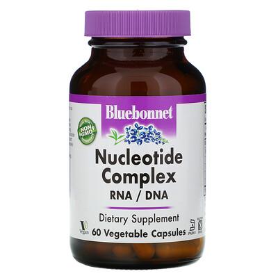 Купить Bluebonnet Nutrition Комплекс нуклеотидов, РНК/ДНК, 60 капсул на растительной основе