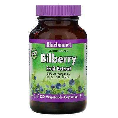 Купить Bluebonnet Nutrition Standardized Bilberry Fruit Extract, 120 Vegetable Capsules