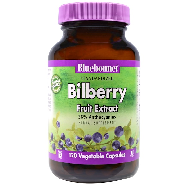 Bluebonnet Nutrition, Standardized Bilberry Fruit Extract, 120 Veggie Caps