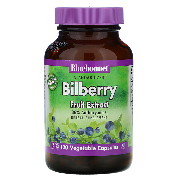 Standardized Bilberry Fruit Extract, 120 Vegetable Capsules