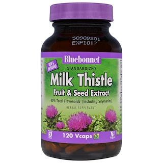 Bluebonnet Nutrition, Milk Thistle Fruit & Seed Extract, 120 Veggie Caps