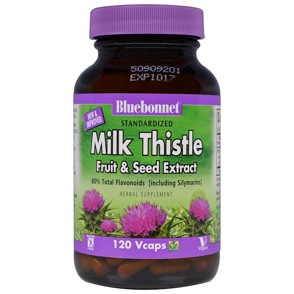 Bluebonnet Nutrition, Milk Thistle Fruit & Seed Extract, 120 Veggie Caps (Discontinued Item)