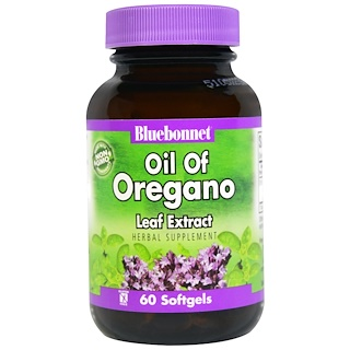 Bluebonnet Nutrition, Oil of Oregano Leaf Extract, 60 Softgels