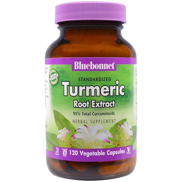 Bluebonnet Nutrition, Standardized Turmeric Root Extract, 120 Veggie Caps (Discontinued Item)