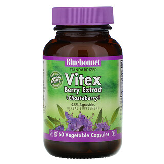 Bluebonnet Nutrition, Vitex Berry Extract, 60 Vegetable Capsules