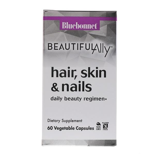 Bluebonnet Nutrition, Beautiful Ally، الشعر، البشرة، والأظافر، 60 كبسولة نباتية